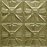 Shanko BR314DA Pattern 314 Authentic Pressed Metal Wall and Ceiling Tiles, 20 sq. ft., Brass