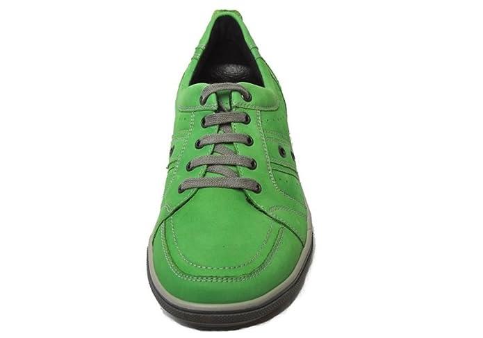 WALDLÄUFER Heath Grün Herren Green Walk Sneaker Leder Schuhe