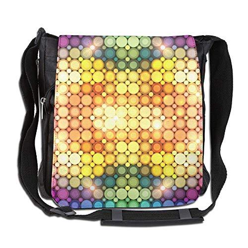 Body City Cross Disco - Messenger Bag,polka Dot Shining Disco Lights,Unisex Shoulder Backpack Cross-body Sling Bag
