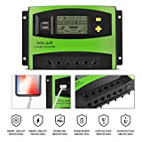 MoimTech Solar Charge Controller, Solar Panel Battery Controller 40A PWM Auto Paremeter Adjustable