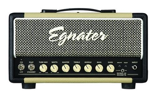 Egnater REBEL -20 MARK II 20-Watt One-Channel Tube Head with Tube Mix, 2 x 6V6 and 2 x EL84 Power Tubes, 3 x 12AX7 Preamp Tubes by Egnater