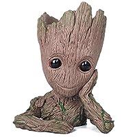thematys® Baby Groot vaso di fiori - Marvel action figure dei Guardiani della Galassia per piante e penne - perfetto come regalo - SONO GROOT (A)