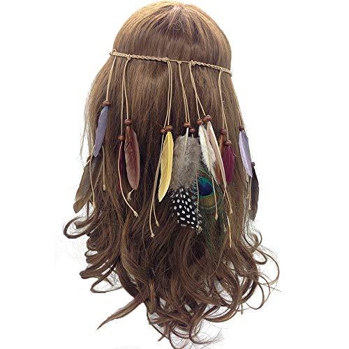 Feather Headband Hippie Indian Boho Hair Hoops Tassel