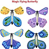 magic flying butterfly wind up butterfly flutter card prank