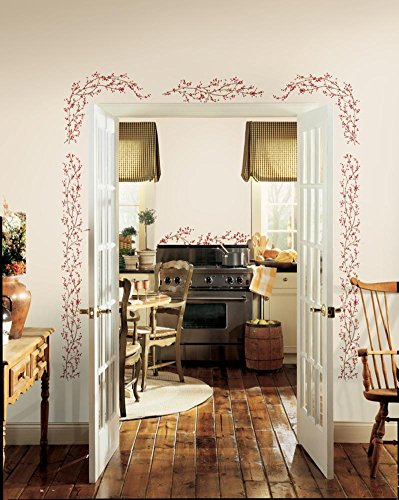 Berry Vine Peel U0026 Stick Wall Decals 18 X 40in