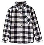 SANGTREE Girls' Long Sleeves Plaid Button Down Shirt, 18M-12 Years