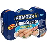Original Vienna Sausage 6-4.6 oz. Cans, America's FavoriteMade with Chicken, Beef and Pork Added in Chicken BrothGluten Free, Pack of 6
