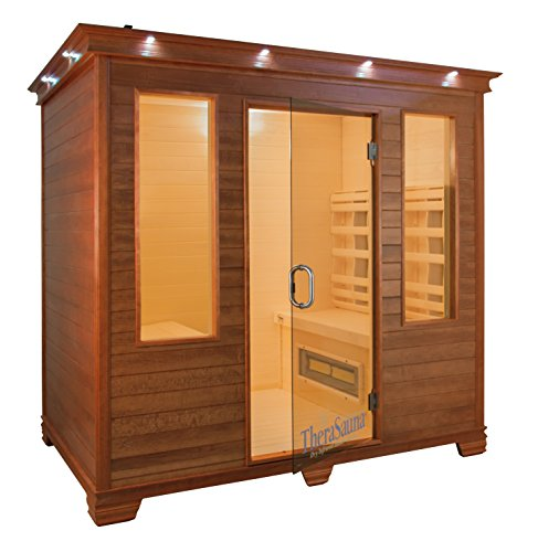 Therasauna TS7754 Four Person Infrared Health Sauna, 77 b...