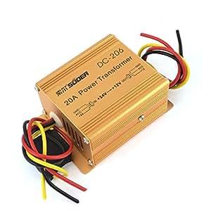 Auto DC 24V Salida 12V de entrada de la fuente de alimentación del transformador del color de cobre 20A