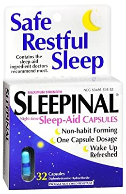 Sleepinal Sleep Aid Capsules - 32 Ea (Pack of 4)