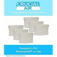 6 Honeywell HC-888 & Duracraft D88 Humidifier Filter Fits DCM-200, DH-888, 890, 890C DCM-891B, 891S (AC-888), HCM-890, 890B, 890C & HCM-890-20, Designed & Engineered by Crucial Air