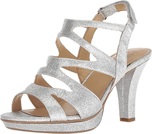 Naturalizer Women's Dianna Silver Glitter Synthetic 9 M US