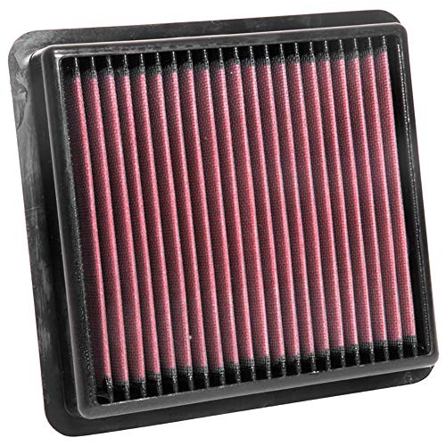 (K&N engine air filter, washable and reusable:  2018-2020 Jeep Wrangler JL and Gladiator 33-5076)