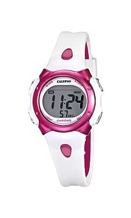 Calypso Girl s Reloj Digital con Pantalla LCD Pantalla Digital Dial y Correa de plástico