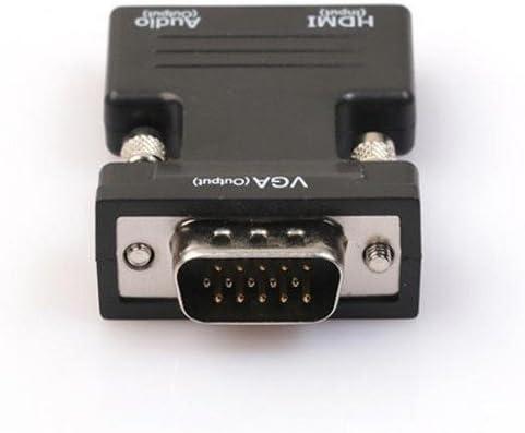 Tongshi HDMI hembra a VGA adaptador macho de alta definición con ...
