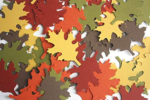 50 Paper Oak Leaf Cuts Outs - Die Cut Oak Leaves - Autumn Party Supply from Crafts & Confetti