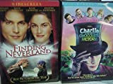 Finding Neverland , Charlie and the Chocolate Factory : Johnny Depp Family Movie 2 Pack Collection