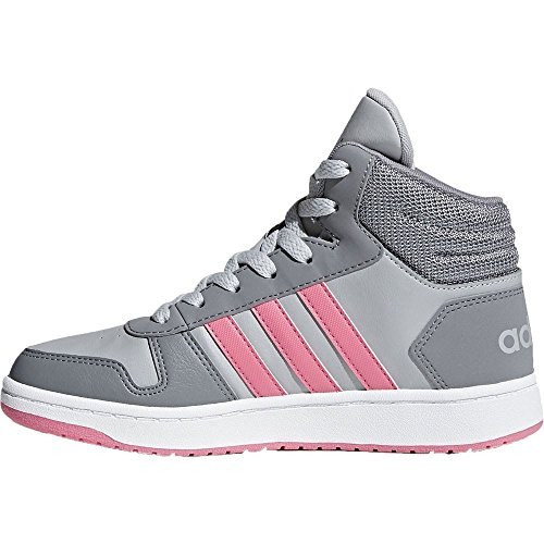 adidas Unisex-Kinder Vs Hoops Mid 2.0 K Gymnastikschuhe Grau (Grey Three F17/chalk Pink S18/grey Two F17)