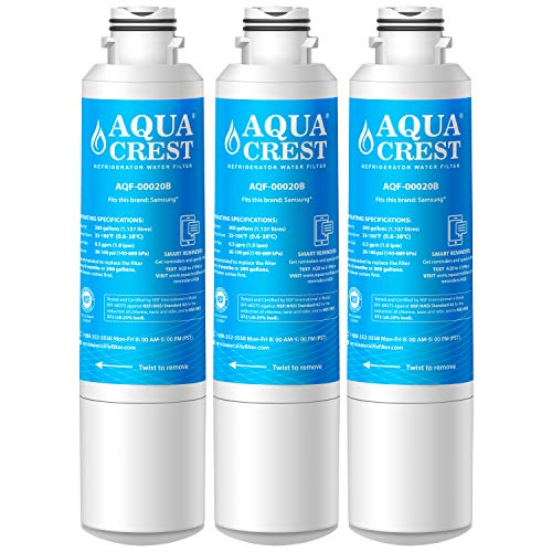 AQUACREST Refrigerator Water Filter, Compatible with Samsung DA29-00020B, DA29-00020A, HAF-CIN/EXP, 46-9101 Water Filter (Pack of 3)
