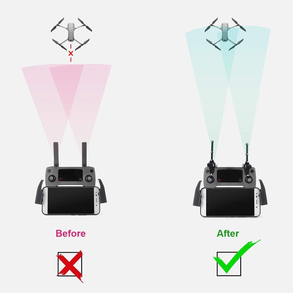 Signal f/ür erweiterte Verl/ängerung Drohne Antenne Sender 1 Paar Signalreichweitenverst/ärker f/ür DJI Mavic 2 schwarz faltbarer Controller Signalverst/ärker