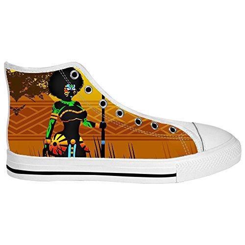 Dalliy African woman Mens Canvas shoes Schuhe Lace-up High-top Sneakers Segeltuchschuhe Leinwand-Schuh-Turnschuhe C