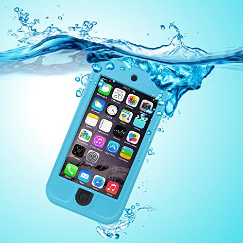 PARLT Waterproof Full-Body Sealed Case with Kickstand for Apple Ipod Touch 5th/6th Generation - Blue