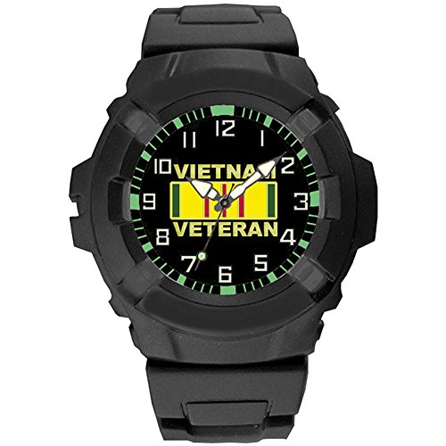(Vietnam Veteran Performance Watch Rugged Analog Features 50M Water Resistant)