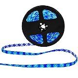 XKTTSUEERCRR Waterproof Blue LED 3528 SMD 300LED 5M 16.4Feet Flexible Light Strip 12V 2A 24W 60LED/M (blue)