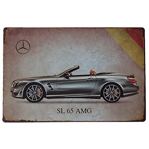 MARQUISE & LOREAN Placas Decorativas Metálicas de Coches Deportivos Elije Tus Carteles Vintage de Chapa Decorativa Preferidos Mira (Mercedes AMG, 20 x ...