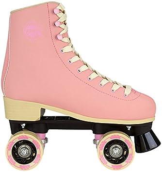 09dd480c9a7 Nijdam Unisex's 52RO Eye Candy Retro Roller Skates, Denim Blue/Yellow, One  Size