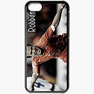 Personalized iPhone 5C Cell phone Case/Cover Skin Arjen Robben Football Black