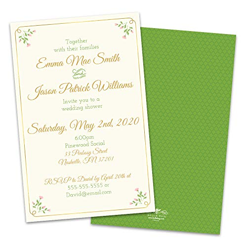 (Personalized Sweet Floral Wedding Shower Invitation)
