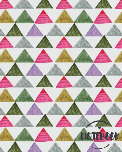 Notebook: Boho Triangle Journal :8 x 10 size : Lined Journal : Perfect to write in (College Ruled Notebook) (Volume 1)