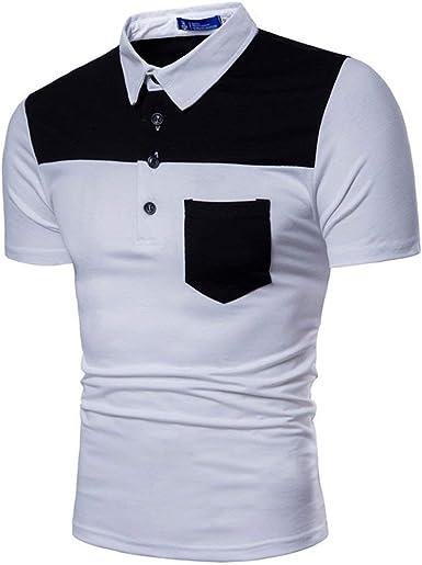 Polo Camisa Hombre Verano Mezclado Colores Manga Corta Retro Polo Camisa Oversize Casual Moda Deporte Solapa Camiseta Tops Básico: Amazon.es: Ropa y accesorios