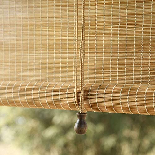 Bamboo Blinds Reed Curtain Natural Bamboo Curtain Roller Blind Blinds, Sunscreen Waterproof and Breathable, Outdoor Indoor Furniture Decoration