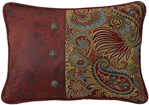 HiEnd Accents San Angelo Western Pillow, Paisley