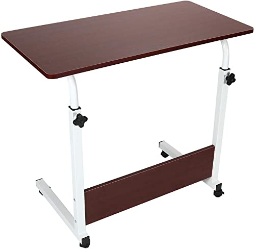 Fekuit Height Adjustable Computer Office Desk,All-Purpose Utility Table, Multipurpose Home Study Reading Writing Desk,Multipurpose Frame Desk Perfect for Office Home Red