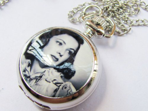 New Stainless Steel Case Super Star Pocket Watch with Chain