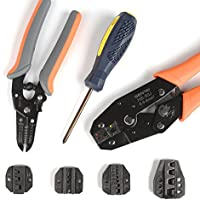 Crimpers Crimping Tool Kit Stripper/&Cutter Different Kind Terminals 5 Die