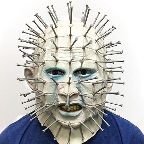 Demi Sharky Novelty Halloween Cosplay Party Latex Full Nail Head Cap Costume Headpiece for (Halloween's Over Meme)