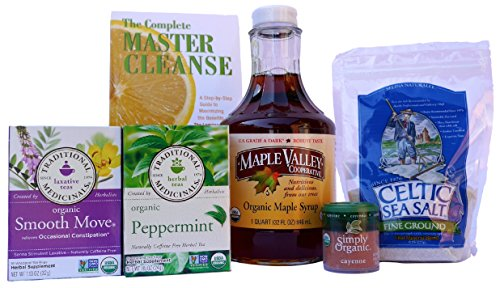 Maple Valley 5 Day Living Master Cleanse Lemonade Detox/ Diet Kit with Book The Complete Master Cleanse