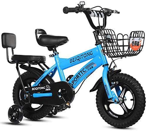 YSA キッズバイク子供用自転車、補助輪付き、2歳から13歳の子供が自転車の女の子と男の子の自転車に乗る