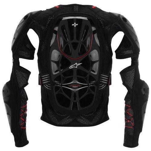 Alpinestars Bionic Tech Jacket Men's Protector Off-Road Motorcycle Body Armor - Black/Red / Medium (Alpinestars Armor Jacket)