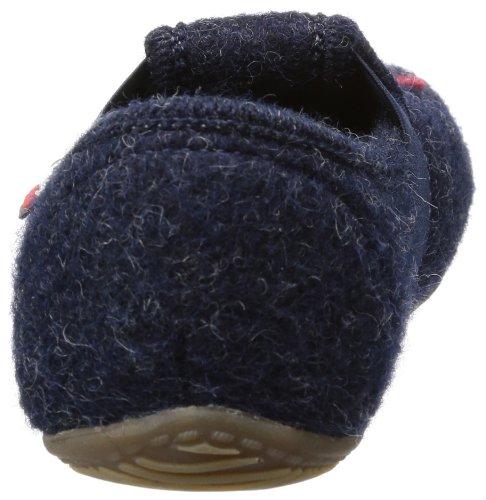 Living Kitzbühel T-Modell Drachenjäger - Zapatillas de casa de lana infantil azul - Blau (nachtblau 590)