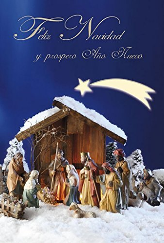 Grupo Erik editores Merry Christmas and Happy New Year Card-Felicitacion, 300gr (Merry Christmas And Happy New Year In German)