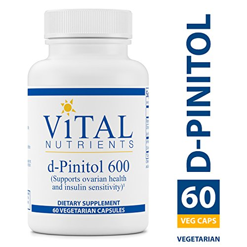 Vital Nutrients - D-Pinitol 600 mg - For Maintenance and Support of Ovarian Health and Insulin Sensitivity - 60 Capsules