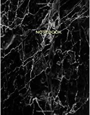 Notebook: Black and White Marble with Gold Lettering - Marble & Gold Journal   100 College-ruled Pages   8.5 x 11 - A4 Size (Marble and Gold ... - Journal, Notebook, Diary, Composition Book)