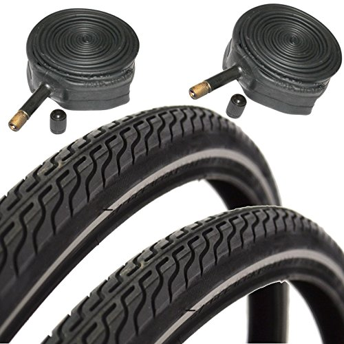CST Raleigh T1262 Global Tour 700 x 35c Hybrid Bike Tires with Schrader Tubes (Pair) (700c Hybrid Tires)
