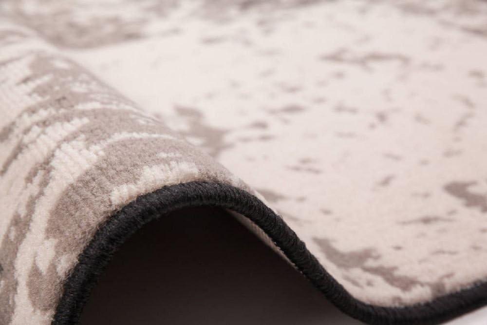 "Beauty Shaggy Flat Flor Scouts flat flor Carpet /""Betty/"" Grey-Ivory 80x150"