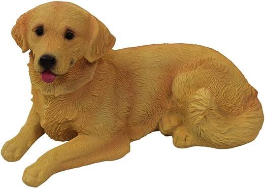 1PLUS - Figuras de polirresina para jardín, diseño de perro Golden Retriever, pintadas a mano, decoración de jardín, animales, resina: Amazon.es: Jardín